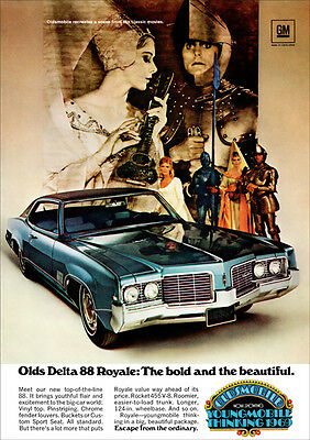 Oldsmobile 88 Eighty Eight Delta Retro A3 Poster Print From Advert 1969