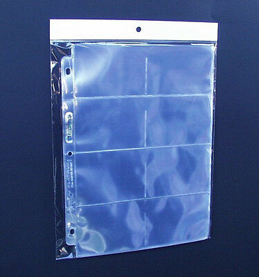 20 8 Pocket Coupon Sleeves for Binder Organizer or Baseball Cards 20 Pages