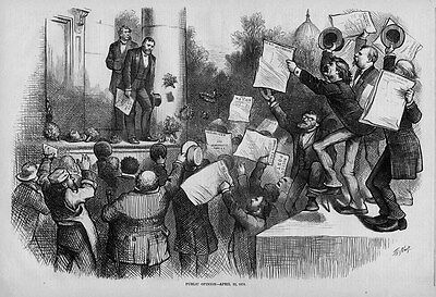 President Grant Public Opinion By Thomas Nast, Republican And Democratic Papers
