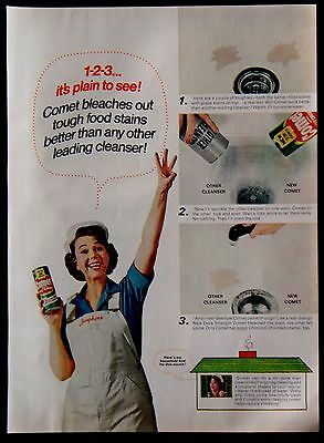 1967 Extra Strength Comet Cleanser with Bleach Josephine Magazine Ad