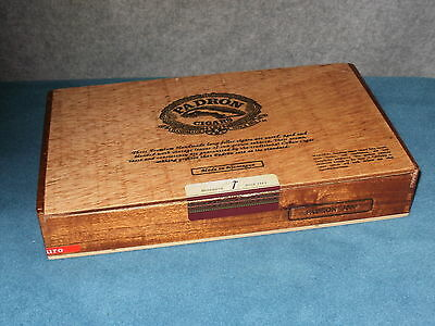 CIGAR BOX ONLY WOOD BOX PADRON 3000 MADURO MADE IN NICARAGUA item #7