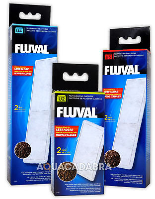 Fluval U2 U3 U4 Poly Clearmax Filter Cartridge Fish Tank Aquarium Filtration