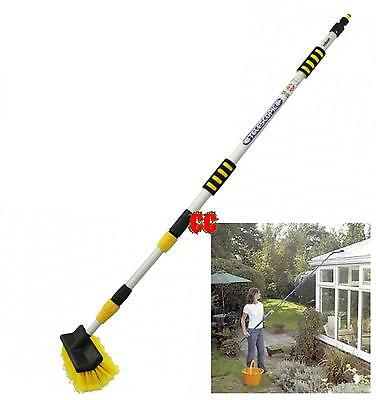 window cleaning brush extendable hose fed telescopic  conservatory glass 3m ally
