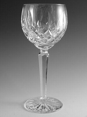 WATERFORD Crystal - LISMORE Cut - Hock Wine Glass / Glasses - 7 3/8""