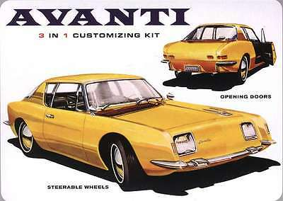 1:25 1963 Studebaker Avanti 3 in1 Plastic Model kit