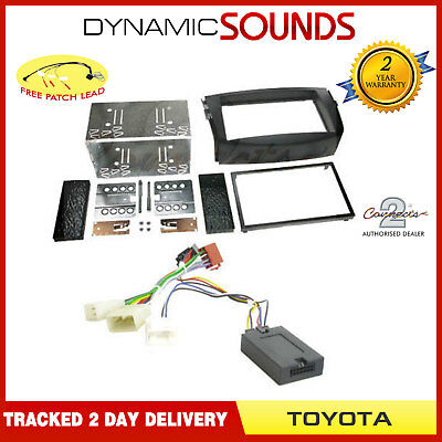 Double Din Car Stereo Fitting Kit Fascia Streering Control For Toyota RAV4 2006>