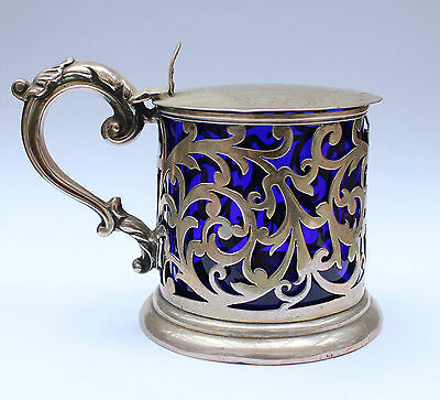 Early Victorian Solid Silver Mustard Pot 1846