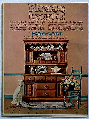 1967 Bassett Furniture Chimney Corners Early American Collection Magazine Ad