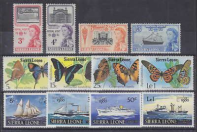 Sierra Leone Sc 221/484 MLH. 1961-1980 issues, 3 cplt sets F-VF