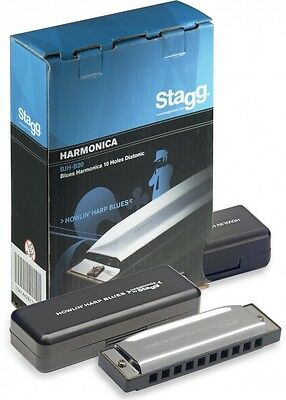 Stagg Howlin Harp Blues Harmonica in A Major BJH-B20 A