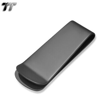 T&T 316L Black Stainless Steel Money Clip (MC03D)
