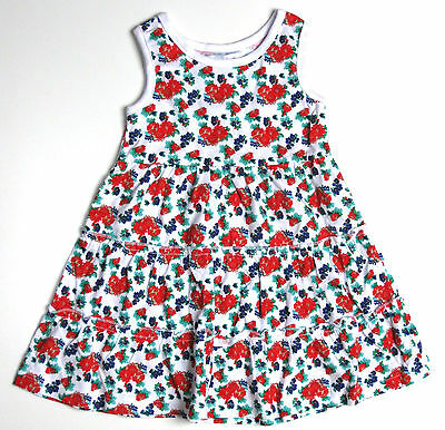 Baby Girls White Ditsy Floral Sun Dress 12-18 Months