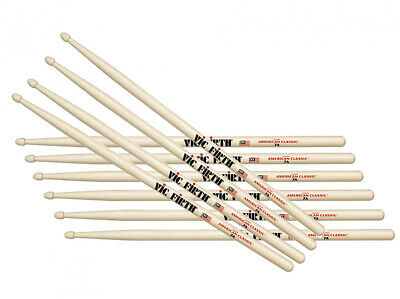 Vic Firth VF-7A American Hickory 7A Drum Sticks X5 Pairs