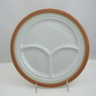 "Shenango China Lawrence Ware Grill Plate w Yellow to Peach Decoration, 10"" dia"