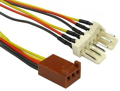 15cm 3 Pin FAN Power Splitter Cable 1x Female to 2x Male - Motherboard to 2 FANS
