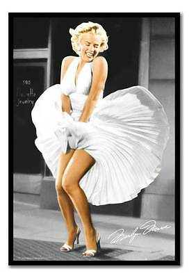 Framed Marilyn Monroe Seven Year Itch Dress Poster Ready To Hang Frame