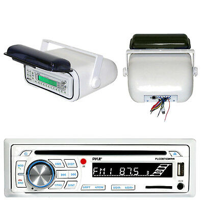 Pyle Bluetooth CD Marine Stereo + Stereo Housing and Cover