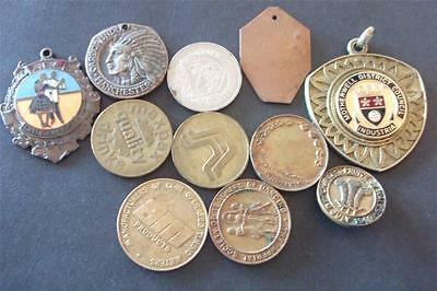 Small Lot Of Old Vintage Medals & Tokens - Free Uk Postage