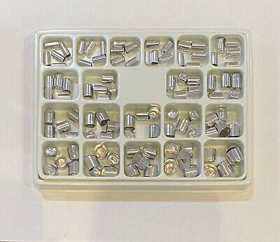 Dental Aluminum Shell Temporary Crowns Starter Kit - Asstd sizes #1-20 (100 pcs)