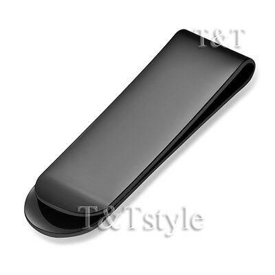 T&T 316L Black Stainless Steel Money Clip (MC01D)