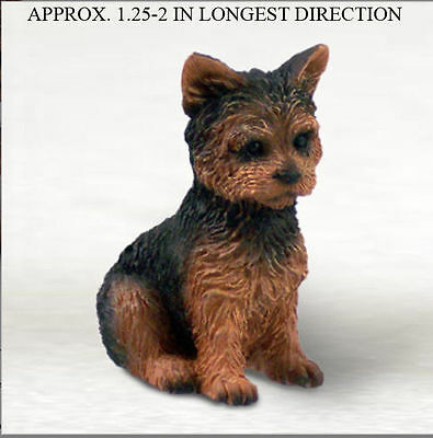 Yorkie Mini Resin Hand Painted Collectible Dog Figurine Puppy Cut