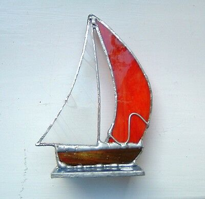 3D YACHT stained glass suncatcher boat sailing racing fishing prize gift