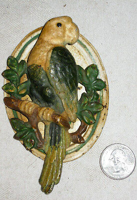 Antique Hubley Architectural Bed Room Cast Iron Parrot Bird Doorknocker Knocker