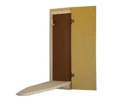 Wall Mount / Recessed Unfinished Built-In  Ironing Board Hide Away Stow Away