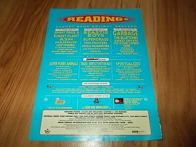 Reading 98-Beatie Boys/Garbage/Page & Plant-1998 magazine advert