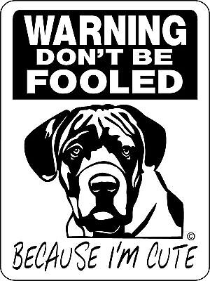 CANE CORSO Guard Dog Aluminum Sign  Vinyl Decal CCN1