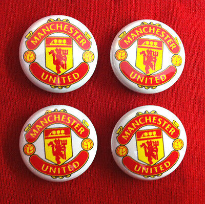 Manchester United Football Club Pinback Badge Set Collectible Fc Button Pin Lot
