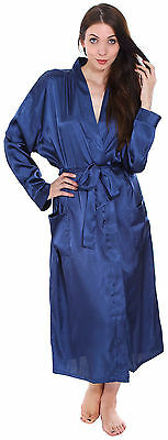 8 Colors Mens Womens Silk Satin Kimono Bath Robe Night Gown Sleepwear