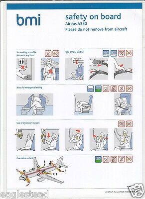 Safety Card - bmi - A320 - 2nd D Version with Another Code (S3250)