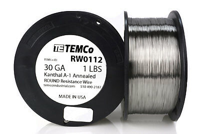 TEMCo Kanthal A1 wire 30 Gauge 1 lb (4142 ft) Resistance AWG A-1 ga