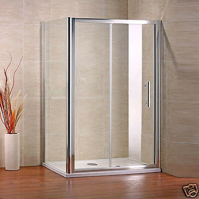 1000x700mm Sliding Shower Enclosure And Tray Cubicle Screen Glass Door + Waste