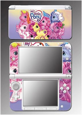 My Little Pony Cartoon TV Show Rarity Girls Video Game Skin for Nintendo 3DS XL