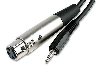 2m XLR CABLE 3 pin Female to 3.5mm Mono Jack MALE Microphone Mixer AUDIO AMP PA
