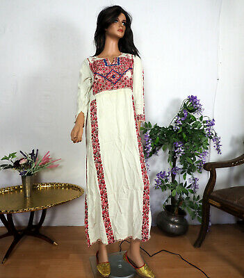antik Orient Beduin palästinensisch Kleid Palestinian embroidered ethnic dress 6