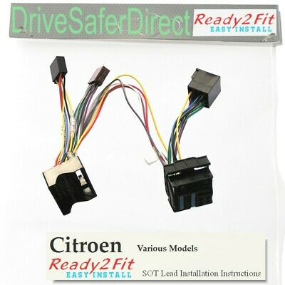 ISO-SOT-6000-w Lead,cable,adaptor for Parrot CK3100 Citroen