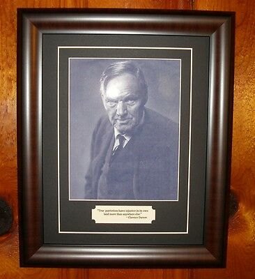 Clarence Darrow Lawyer Quote & Photo Framed