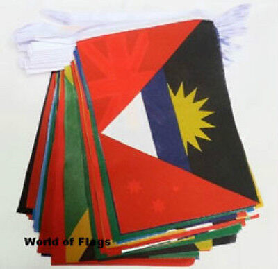 COMMONWEALTH of NATIONS BUNTING 54 World Flags 16m Caribbean Africa Asia Oceania