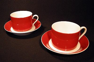 Fitz & Floyd Rondelet - Terra Cotta 2 Cup and Saucer Sets  25% Discount
