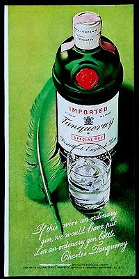 1972 Tanqueray Special Dry Distilled English Gin Magazine Print Ad