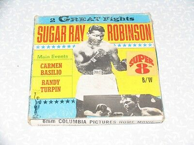 SUGAR RAY ROBINSON // 2 GREAT FIGHTS _ Columbia Pictures Home Movie SUPER 8mm