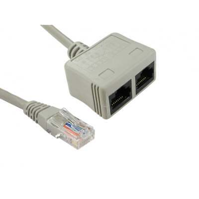 Cat5e Cat 5e Rj45 UTP Cable Economiser For Data Networks RJ-ECON Two over One