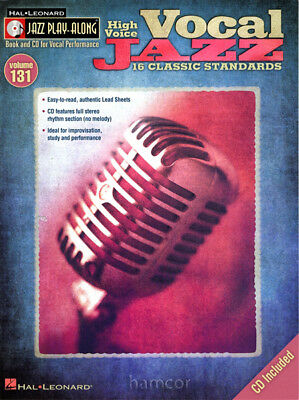 Vocal Jazz High Voice Jazz Play-Along 131 Sing Classic Standards Music Book/CD