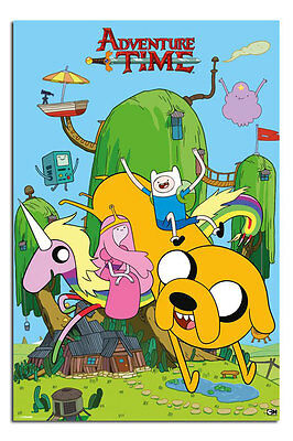 Adventure Time House Cartoon Networks Large Poster New - Laminated Available