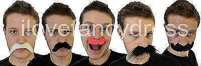 Party Moustache 5 Styles Funny Fancy Dress Accessories Stag Hen Night Event Tash