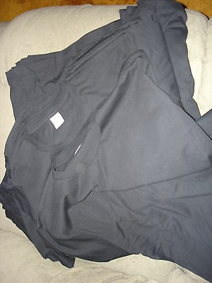 Blank Adult Crew Jersey T Shirt Lot Of 11 Large Black