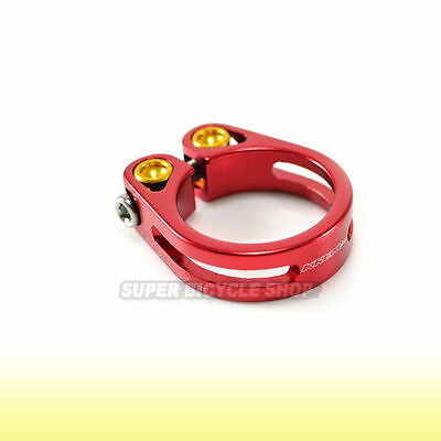 Lightweight Alloy Seat Clamp , 34.9mm , Red